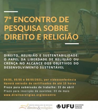 7º Encontro de Pesquisa sobre Direito e Religião