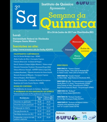 3ª Semana da Química do IQUFU