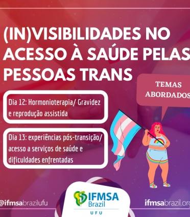Roda de Conversa: (In)visibilidade no acesso à saúde pelas pessoas Trans