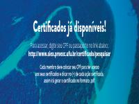 Informe sobre a emissão de certificados